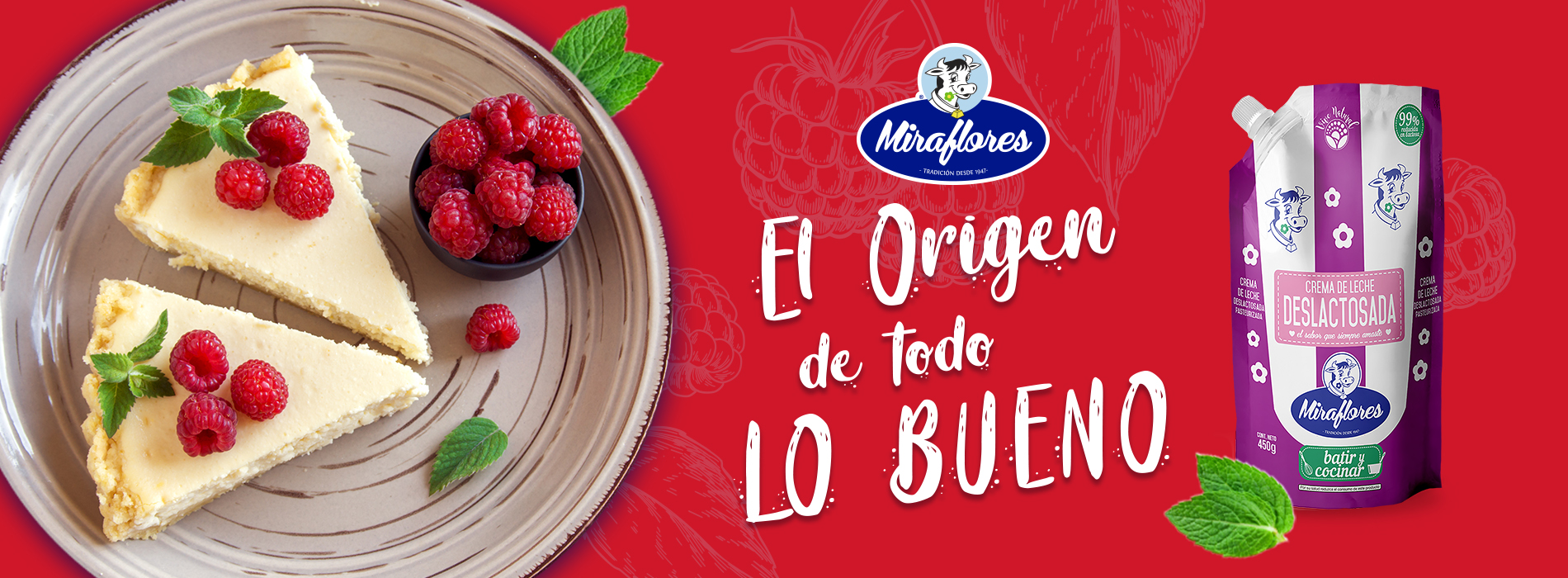 Productos Miraflores, yogurt, mantequilla, crema de leche